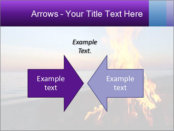 Campfire at sunset PowerPoint Templates - Slide 90