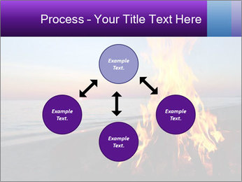 Campfire at sunset PowerPoint Templates - Slide 91