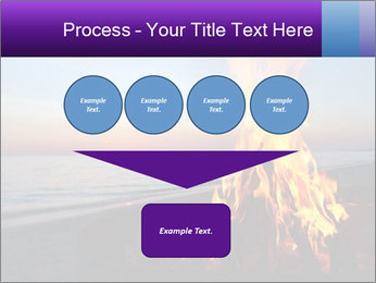 Campfire at sunset PowerPoint Templates - Slide 93