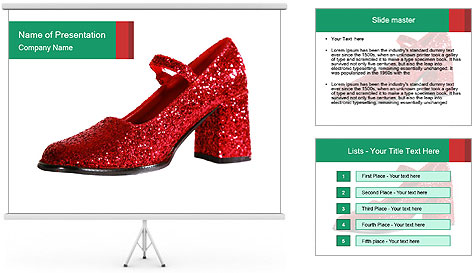 Red Shoes PowerPoint Template