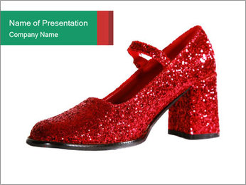 Red Shoes PowerPoint Template - Slide 1