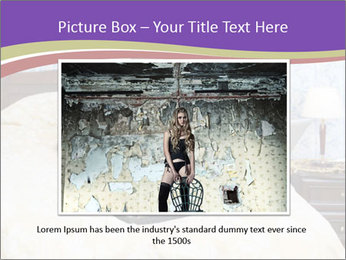 Woman with laptop PowerPoint Templates - Slide 16