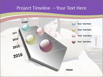 Woman with laptop PowerPoint Templates - Slide 26