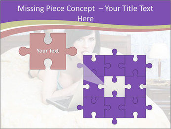 Woman with laptop PowerPoint Templates - Slide 45