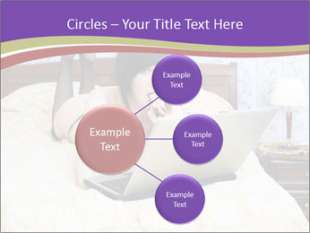 Woman with laptop PowerPoint Templates - Slide 79