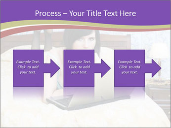 Woman with laptop PowerPoint Templates - Slide 88