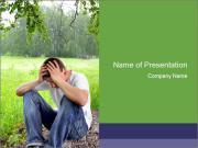 Sad teenager PowerPoint Template