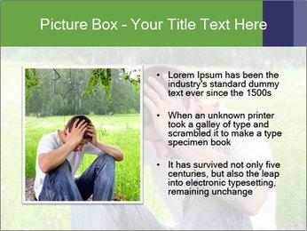 Sad teenager PowerPoint Template - Slide 13