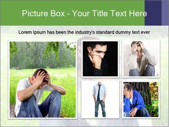 Sad teenager PowerPoint Templates - Slide 19