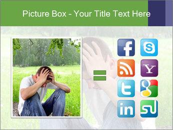 Sad teenager PowerPoint Templates - Slide 21
