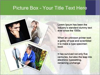 Sad teenager PowerPoint Template - Slide 23