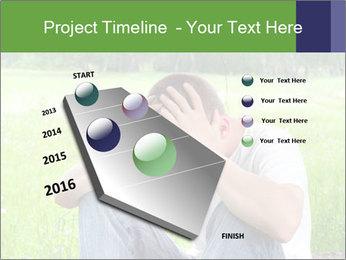 Sad teenager PowerPoint Templates - Slide 26