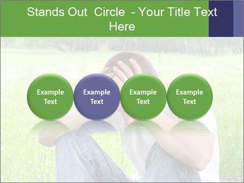 Sad teenager PowerPoint Templates - Slide 76