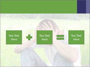 Sad teenager PowerPoint Templates - Slide 95