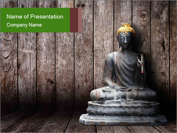 Rusty Buddha PowerPoint Template - Slide 1
