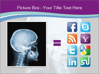 X-ray of head PowerPoint Template - Slide 21