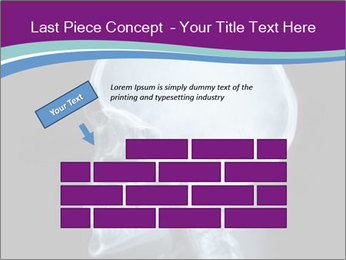 X-ray of head PowerPoint Template - Slide 46