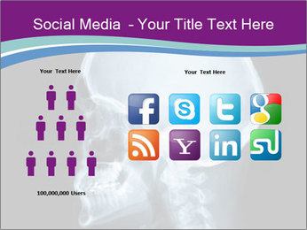 X-ray of head PowerPoint Template - Slide 5