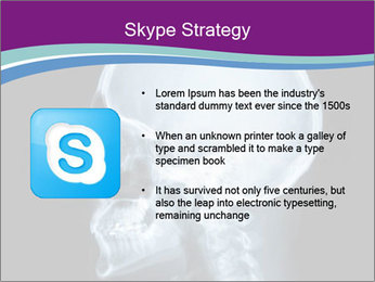 X-ray of head PowerPoint Template - Slide 8