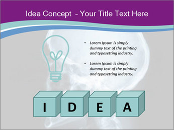 X-ray of head PowerPoint Template - Slide 80