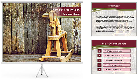 Old rocking horse PowerPoint Template
