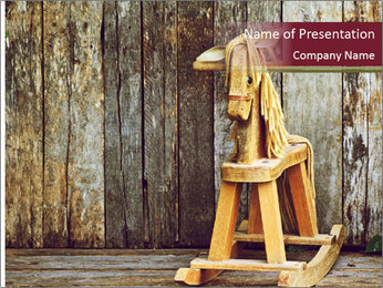 Old rocking horse PowerPoint Template - Slide 1