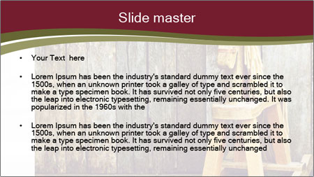 Old rocking horse PowerPoint Template - Slide 2
