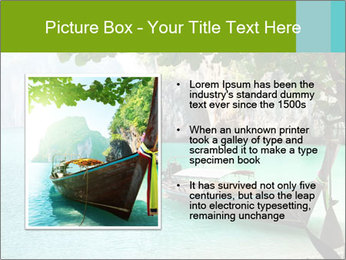 Long boat on island PowerPoint Template - Slide 13