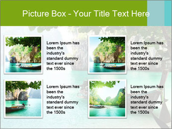 Long boat on island PowerPoint Template - Slide 14