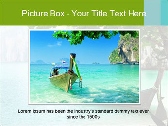 Long boat on island PowerPoint Template - Slide 15