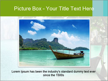 Long boat on island PowerPoint Template - Slide 16