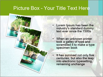 Long boat on island PowerPoint Template - Slide 17