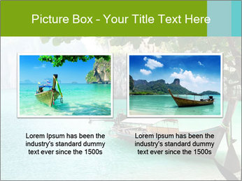 Long boat on island PowerPoint Template - Slide 18
