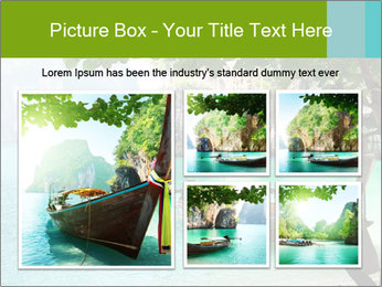 Long boat on island PowerPoint Template - Slide 19