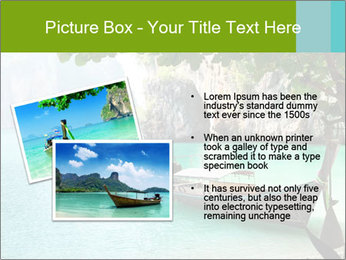 Long boat on island PowerPoint Template - Slide 20