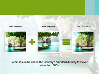 Long boat on island PowerPoint Template - Slide 22