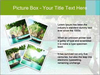Long boat on island PowerPoint Template - Slide 23
