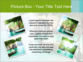 Long boat on island PowerPoint Template - Slide 24