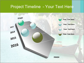 Long boat on island PowerPoint Template - Slide 26