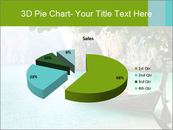 Long boat on island PowerPoint Template - Slide 35