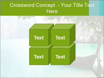 Long boat on island PowerPoint Template - Slide 39