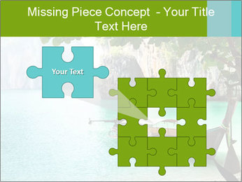 Long boat on island PowerPoint Template - Slide 45