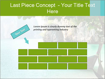 Long boat on island PowerPoint Template - Slide 46