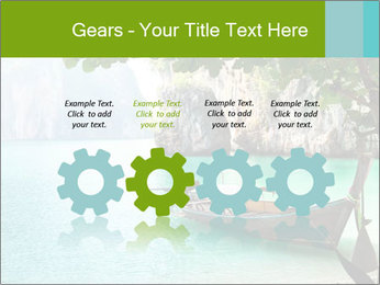 Long boat on island PowerPoint Template - Slide 48