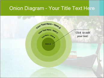 Long boat on island PowerPoint Template - Slide 61