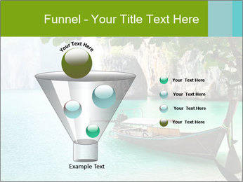 Long boat on island PowerPoint Template - Slide 63