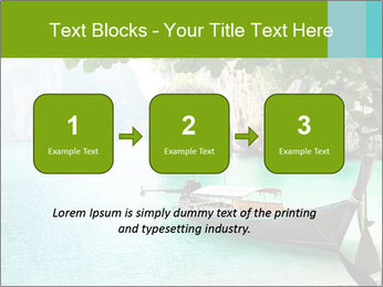 Long boat on island PowerPoint Template - Slide 71