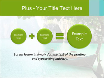 Long boat on island PowerPoint Template - Slide 75