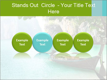 Long boat on island PowerPoint Template - Slide 76