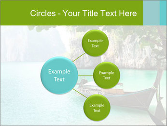 Long boat on island PowerPoint Template - Slide 79